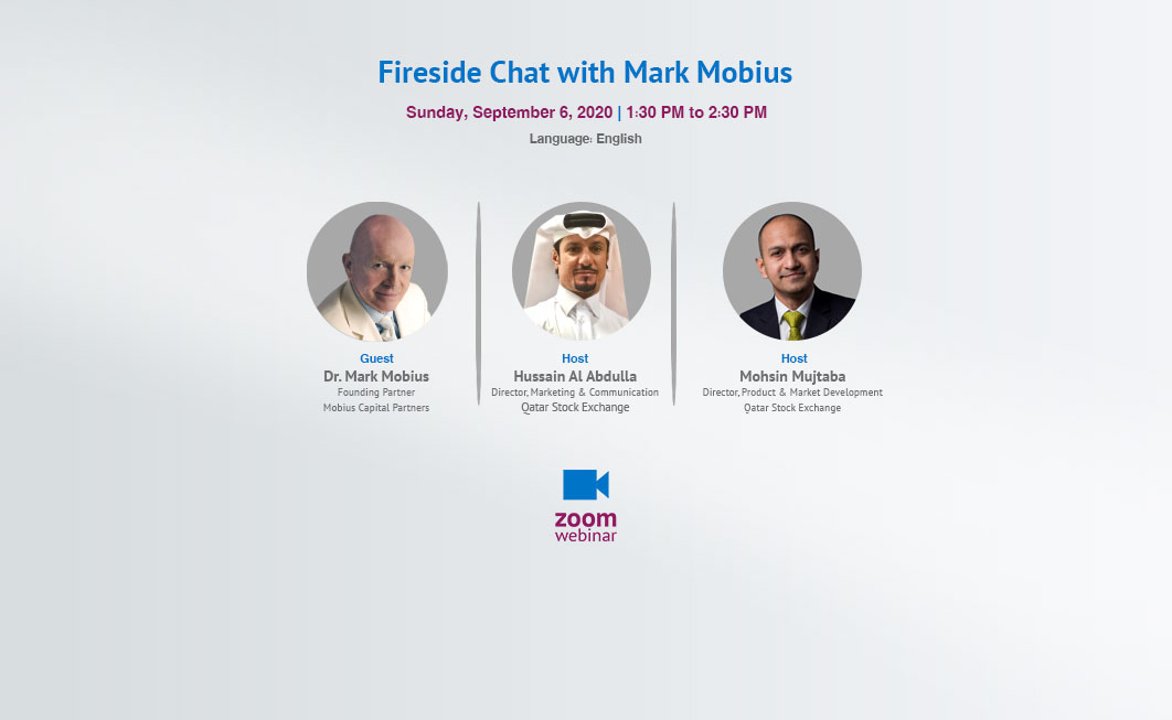 Speakers in Fireside Chat with Mark Mobius Webinar